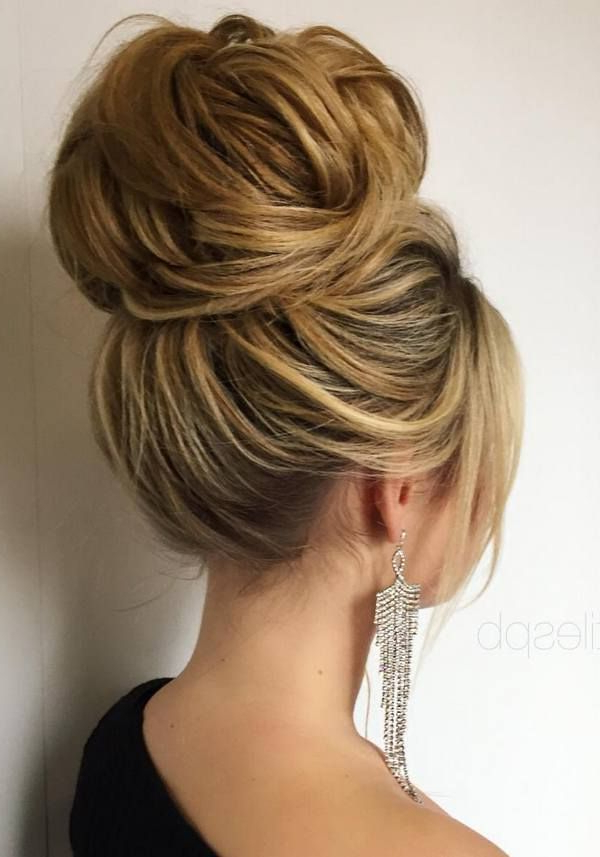 60 Perfect Long Wedding Hairstyles With Glam   Wedding Hairstyles Inside Bouffant And Chignon Bridal Updos For Long Hair (Gallery 4 of 25)