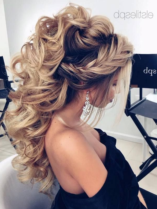 60 Perfect Long Wedding Hairstyles With Glam | Wedding Hairstyles Pertaining To Formal Bridal Hairstyles With Volume (Gallery 1 of 25)