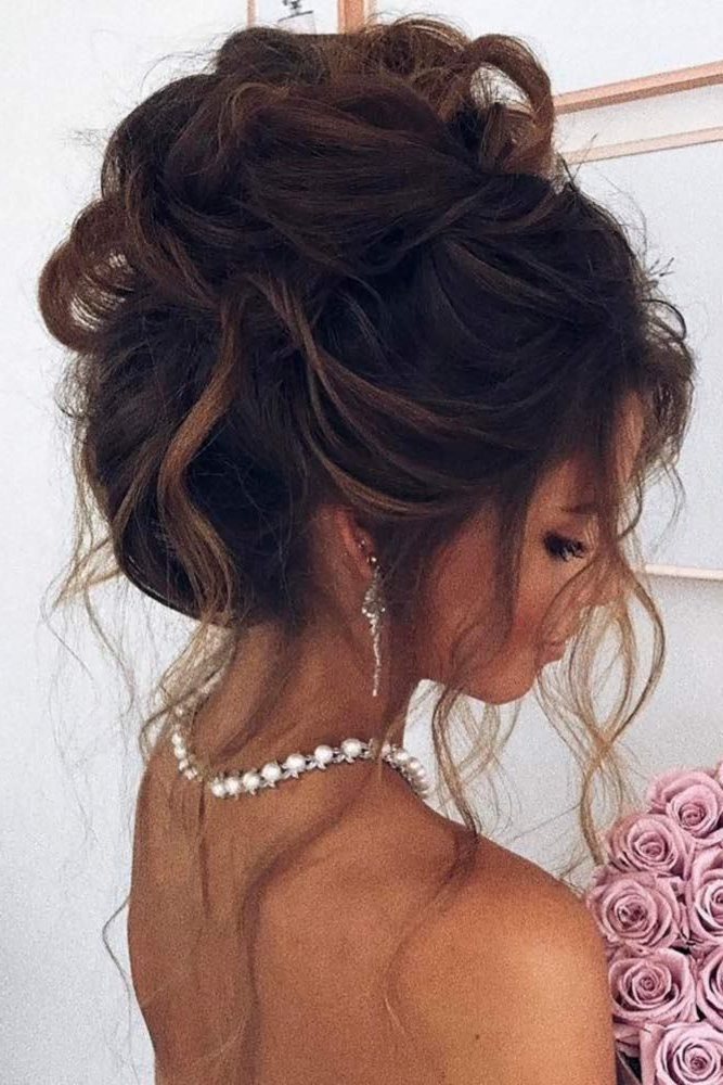 60 Sophisticated Prom Hair Updos | Cute Hair And Tips | Prom Hair With Large Curly Bun Bridal Hairstyles With Beaded Clip (Gallery 8 of 25)