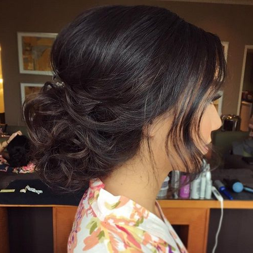 60 Trendiest Updos For Medium Length Hair | Hair | Pinterest | Hair Intended For Curly Wedding Updos With A Bouffant (View 2 of 25)
