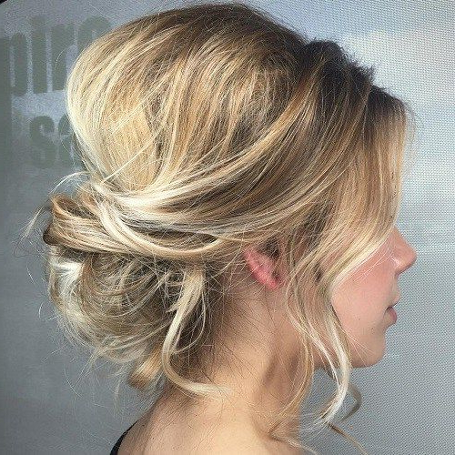 60 Trendiest Updos For Medium Length Hair In 2019 | Hair Styles Throughout Bouffant And Chignon Bridal Updos For Long Hair (Gallery 3 of 25)
