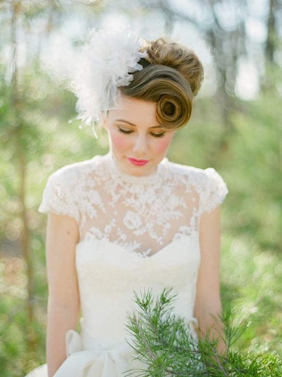 60 Unforgettable Wedding Hairstyles Pertaining To Vintage Asymmetrical Wedding Hairstyles (Gallery 3 of 25)