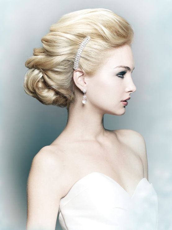 60 Unforgettable Wedding Hairstyles With Brushed Back Bun Bridal Hairstyles (View 15 of 25)