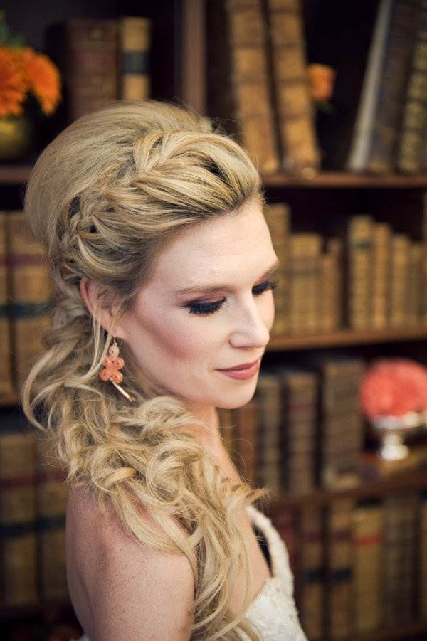60 Unforgettable Wedding Hairstyles With Curly Wedding Hairstyles With An Orchid (Gallery 25 of 25)