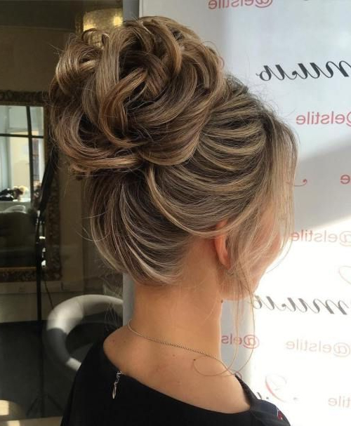 60 Updos For Thin Hair That Score Maximum Style Point | Hairstyles Inside Curly Messy Updo Wedding Hairstyles For Fine Hair (View 11 of 25)