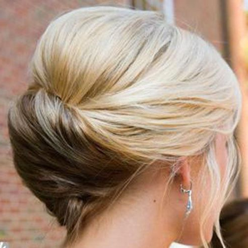 60 Updos For Thin Hair That Score Maximum Style Point | Hairstyles With Regard To Bouffant And Chignon Bridal Updos For Long Hair (Gallery 13 of 25)
