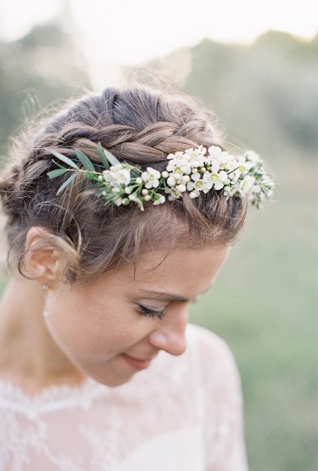 61 Braided Wedding Hairstyles | Brides For High Updos With Jeweled Headband For Brides (Gallery 22 of 25)
