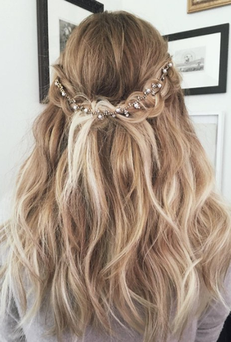 61 Braided Wedding Hairstyles   Brides In Double Braided Look Wedding Hairstyles For Straightened Hair (View 15 of 25)