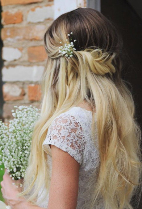 61 Braided Wedding Hairstyles | Brides In Wedding Semi Updo Bridal Hairstyles With Braid (View 12 of 25)