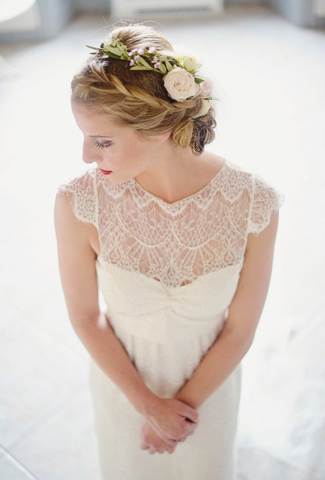 61 Braided Wedding Hairstyles | Brides Inside Double Braid Bridal Hairstyles With Fresh Flowers (View 22 of 25)