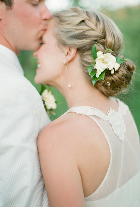 61 Braided Wedding Hairstyles | Brides Intended For Double Braid Bridal Hairstyles With Fresh Flowers (View 17 of 25)