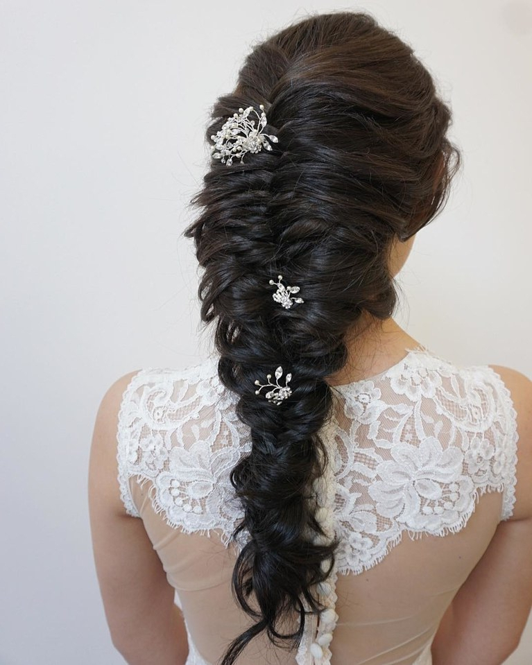 61 Braided Wedding Hairstyles | Brides Intended For Double Braid Bridal Hairstyles With Fresh Flowers (View 14 of 25)