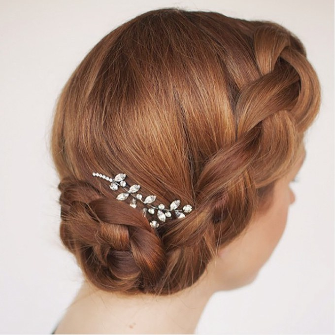 61 Braided Wedding Hairstyles | Brides Intended For Large Curly Bun Bridal Hairstyles With Beaded Clip (View 25 of 25)