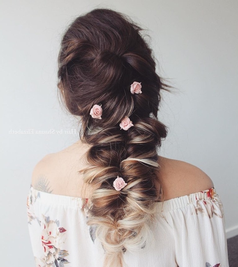 61 Braided Wedding Hairstyles | Brides Pertaining To Double Braid Bridal Hairstyles With Fresh Flowers (Gallery 10 of 25)