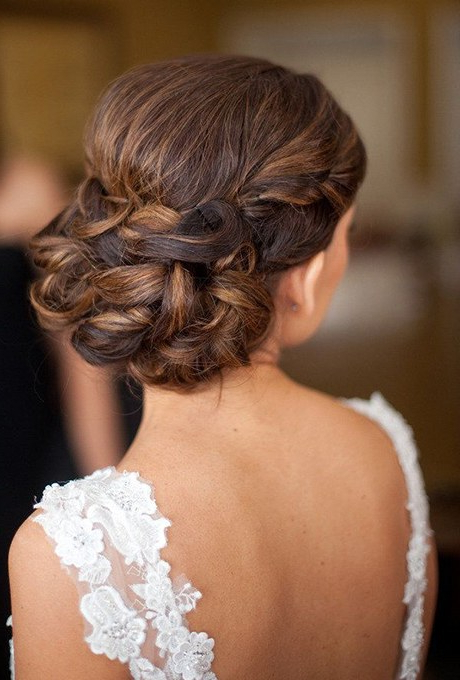 61 Braided Wedding Hairstyles | Brides Pertaining To Twisted Low Bun Hairstyles For Wedding (View 22 of 25)