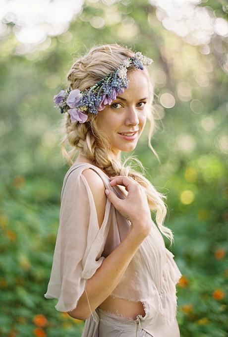 61 Braided Wedding Hairstyles | Brides Regarding Double Braid Bridal Hairstyles With Fresh Flowers (Gallery 24 of 25)