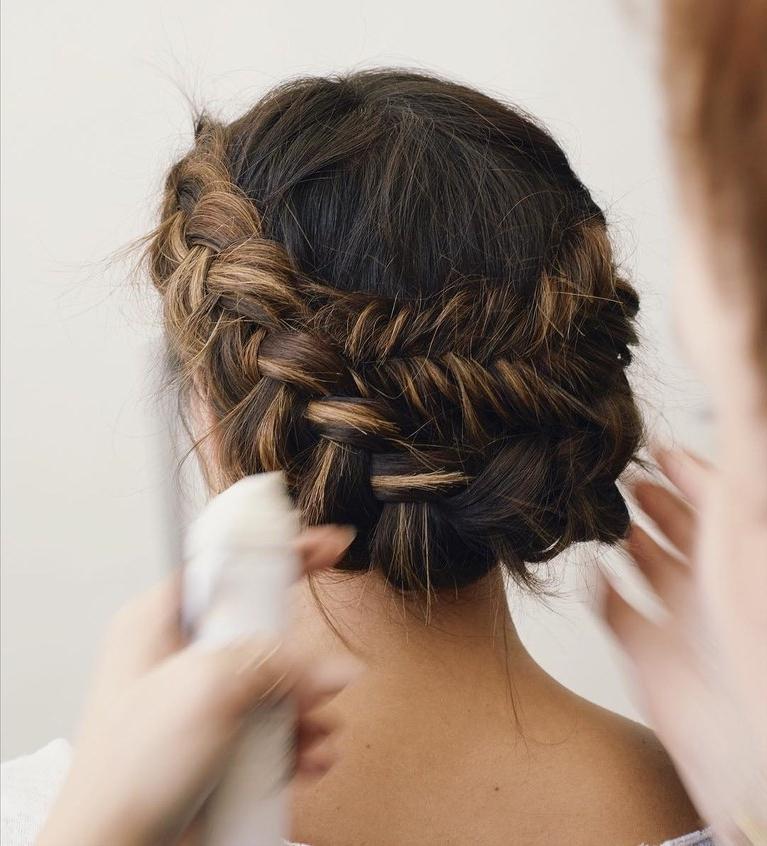 61 Braided Wedding Hairstyles | Brides Regarding Low Twisted Bun Wedding Hairstyles For Long Hair (View 18 of 25)
