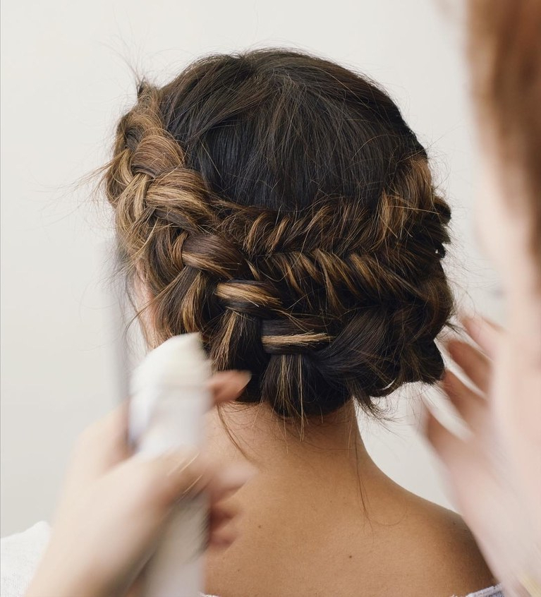 61 Braided Wedding Hairstyles | Brides Throughout Curly Bob Bridal Hairdos With Side Twists (Gallery 10 of 25)