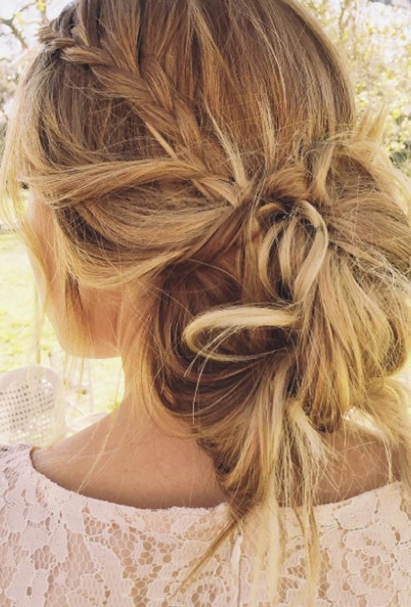 61 Braided Wedding Hairstyles | Brides With Low Messy Bun Wedding Hairstyles For Fine Hair (View 15 of 25)