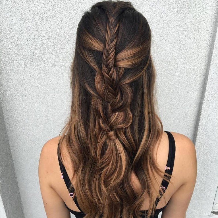 61 Braided Wedding Hairstyles   Brides Within Double Braided Look Wedding Hairstyles For Straightened Hair (View 8 of 25)