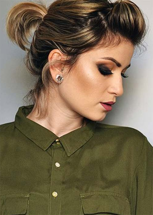 63 Creative Updos For Short Hair Perfect For Any Occasion – Glowsly Pertaining To Lovely Bouffant Updo Hairstyles For Long Hair (Gallery 22 of 25)