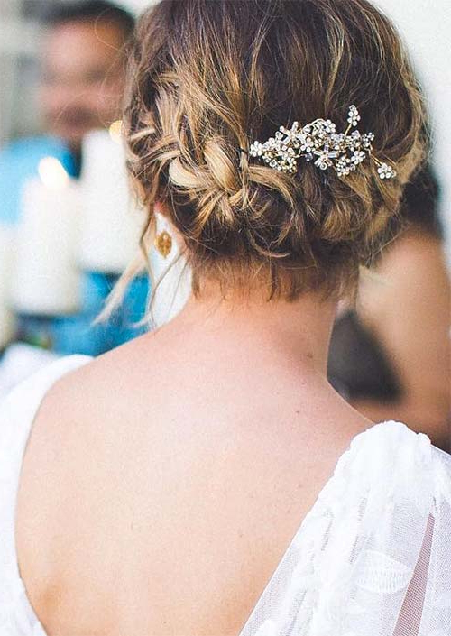63 Creative Updos For Short Hair Perfect For Any Occasion – Glowsly Pertaining To Sparkly Chignon Bridal Updos (Gallery 10 of 25)