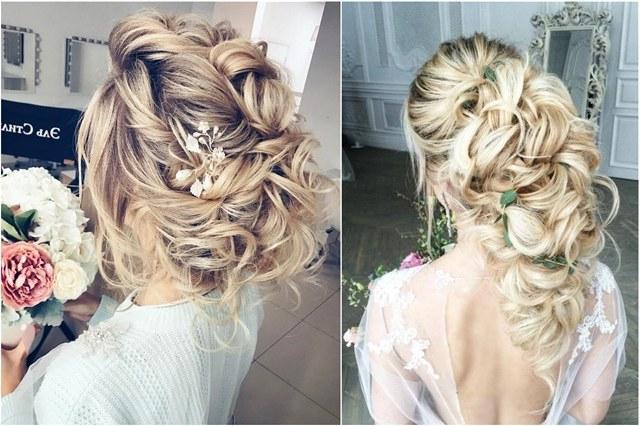 65 Long Bridesmaid Hair & Bridal Hairstyles For Wedding 2019 | Deer In Wedding Semi Updo Bridal Hairstyles With Braid (View 23 of 25)