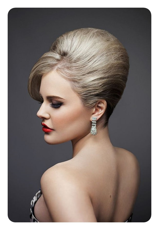 66 Stunning Beehive Hairstyles That Will Wow You With Sleek And Voluminous Beehive Bridal Hairstyles (View 17 of 25)