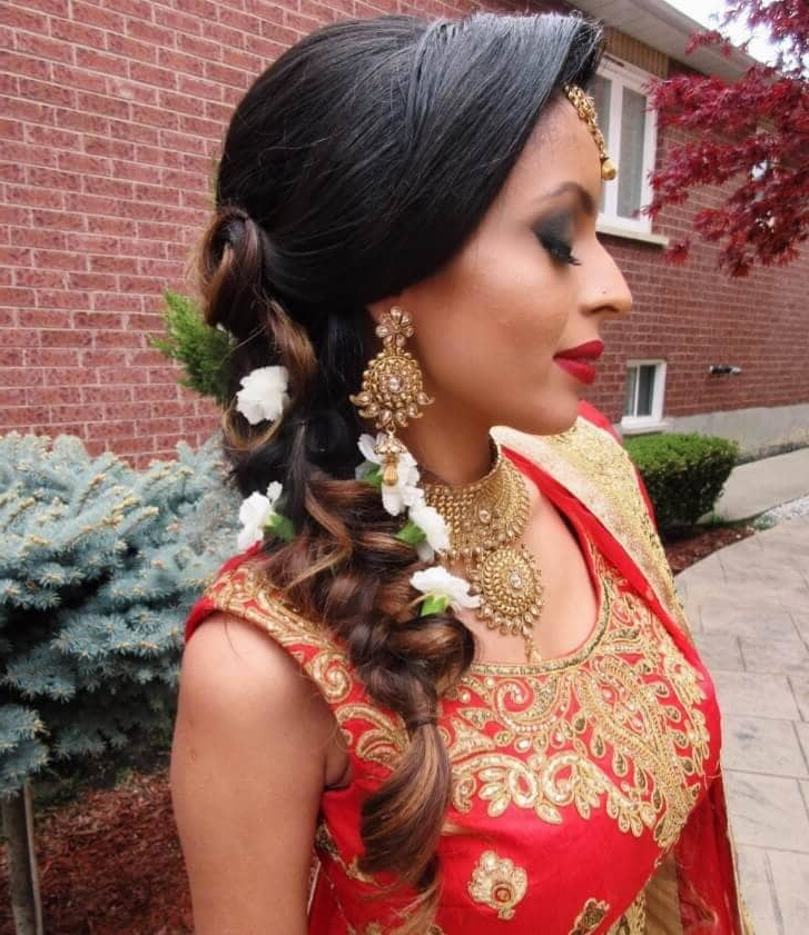 7 Asian Bridal Hairstyles That'll Make You Look 10/10 On The Big Day Within Bedazzled Chic Hairstyles For Wedding (Gallery 14 of 25)