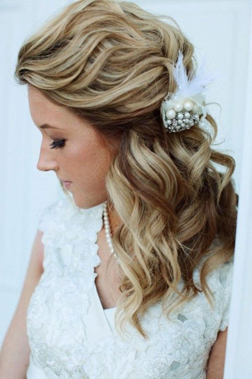 7 Dimensional Waves In Half Up Wedding Hairstyles | Wedding With Regard To Dimensional Waves In Half Up Wedding Hairstyles (Gallery 1 of 25)
