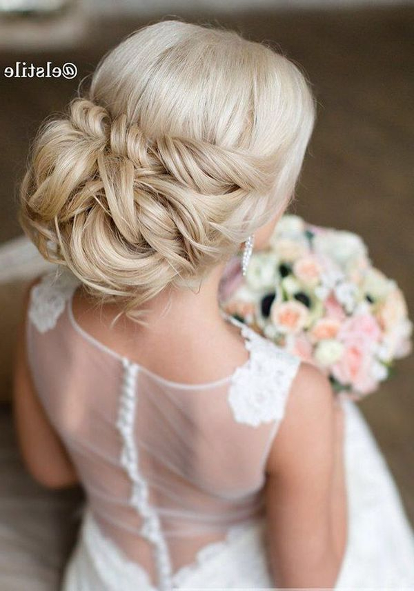 70 Chic Wedding Hair Updos For Elegant Brides – My Stylish Zoo In Wedding Semi Updo Bridal Hairstyles With Braid (Gallery 15 of 25)