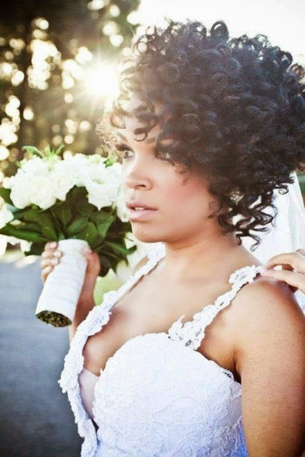 70 Steal Worthy Long And Short Weddings Hairstyles Pertaining To Curly Wedding Updos For Short Hair (Gallery 23 of 25)
