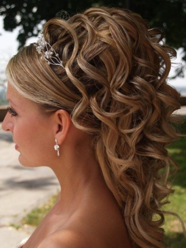70 Steal-Worthy Long And Short Weddings Hairstyles pertaining to Formal Curly Updos With Bangs For Wedding