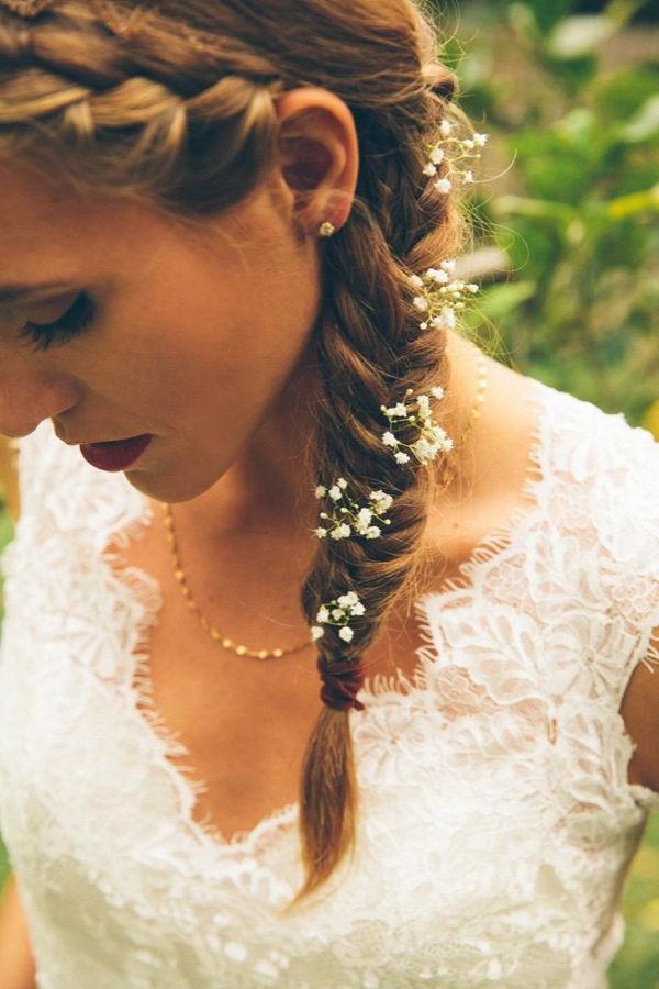 70 Steal-Worthy Long And Short Weddings Hairstyles regarding Short Side Braid Bridal Hairstyles