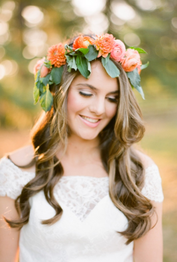 70 Steal Worthy Long And Short Weddings Hairstyles Throughout Flower Tiara With Short Wavy Hair For Brides (Gallery 8 of 25)