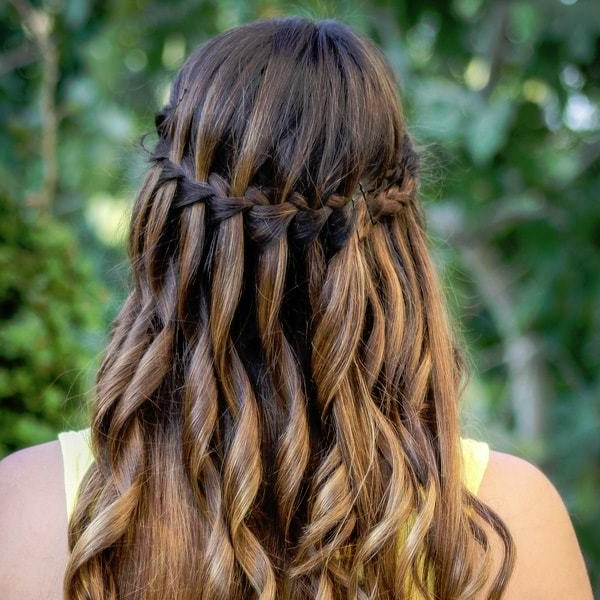 70 Unique & Stylish French Braids For Women – Hairstylecamp Pertaining To Diagonal Waterfall Braid In Half Up Bridal Hairstyles (View 9 of 25)