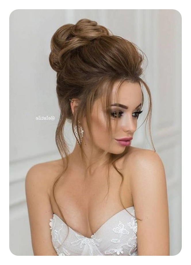 71 Unique Bridesmaid Hairstyles For The Big Day inside Curled Bridal Hairstyles With Tendrils