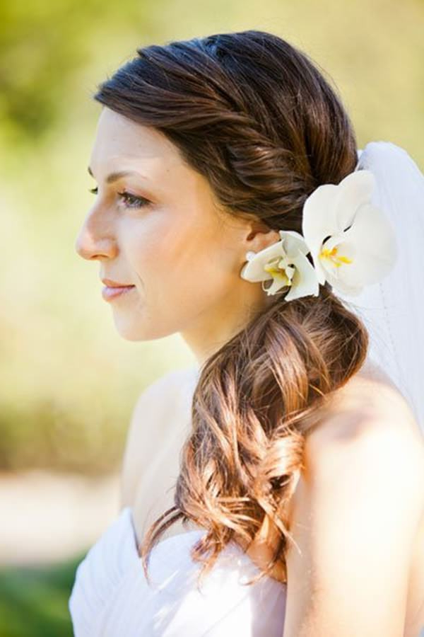 71 Wedding Hairstyles For Short, Medium & Long Hair - Style Easily intended for Curly Wedding Hairstyles With An Orchid