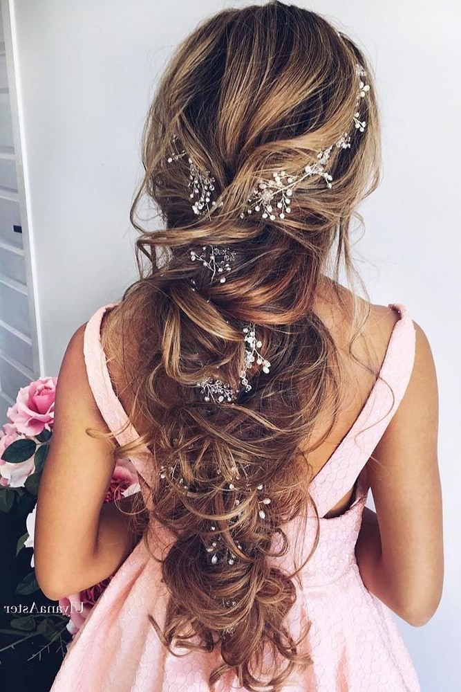 72 Best Wedding Hairstyles For Long Hair 2019 | Wedding Beauty Within Short Length Hairstyles Appear Longer For Wedding (View 7 of 25)