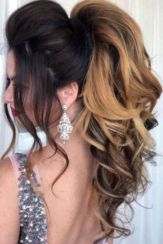 72 Best Wedding Hairstyles For Long Hair 2019 | Wedding Forward For Curly Ponytail Wedding Hairstyles For Long Hair (Gallery 6 of 25)