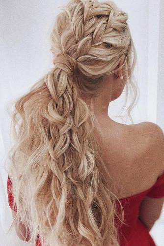 72 Best Wedding Hairstyles For Long Hair 2019 | Wedding Forward In Curly Ponytail Wedding Hairstyles For Long Hair (Gallery 7 of 25)