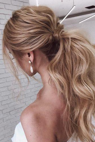72 Best Wedding Hairstyles For Long Hair 2019 | Wedding Forward Intended For Curly Ponytail Wedding Hairstyles For Long Hair (View 13 of 25)