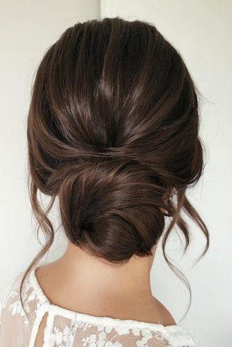 72 Best Wedding Hairstyles For Long Hair 2019 | Wedding Forward Intended For Large Curl Updos For Brides (Gallery 7 of 25)