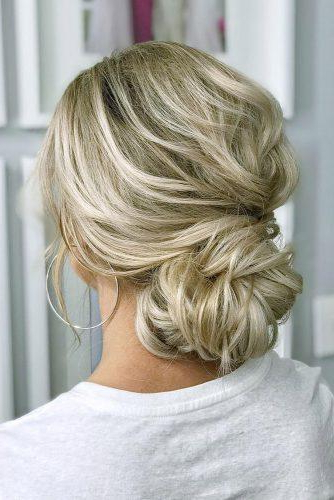 72 Best Wedding Hairstyles For Long Hair 2019 | Wedding Forward Regarding Bold Blonde Bun Bridal Updos (Gallery 13 of 25)
