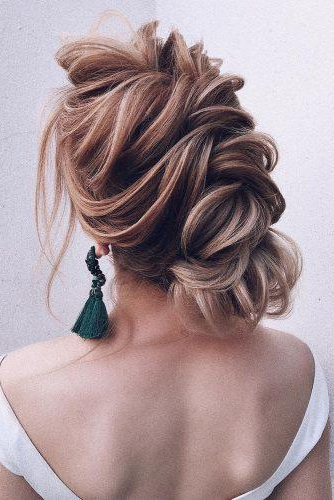 72 Best Wedding Hairstyles For Long Hair 2019 | Wedding Forward Regarding Bold Blonde Bun Bridal Updos (View 8 of 25)