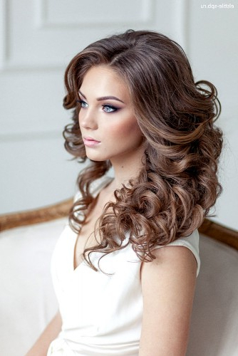 72 Best Wedding Hairstyles For Long Hair 2019 | Wedding Forward regarding Large Curl Updos For Brides