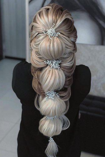 72 Best Wedding Hairstyles For Long Hair 2019 | Wedding Forward With Bold Blonde Bun Bridal Updos (View 24 of 25)