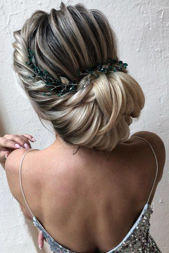 72 Best Wedding Hairstyles For Long Hair 2019 | Wedding Forward With Bold Blonde Bun Bridal Updos (Gallery 14 of 25)