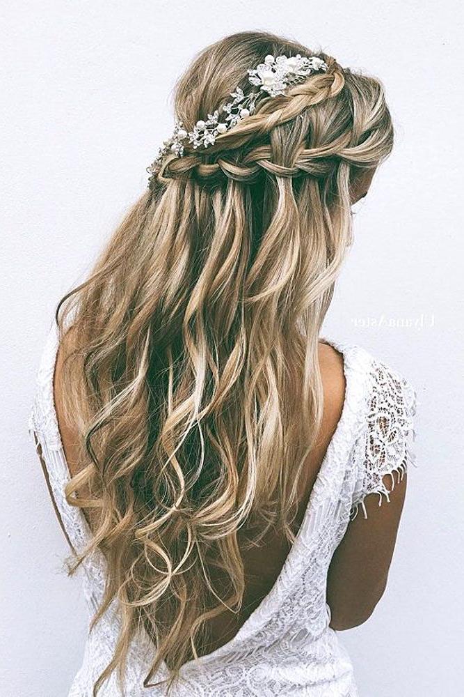 72 Best Wedding Hairstyles For Long Hair 2019 | Wedding | Wedding Regarding Double Braided Look Wedding Hairstyles For Straightened Hair (Gallery 25 of 25)