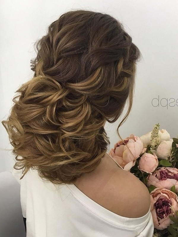 75 Chic Wedding Hair Updos For Elegant Brides | Deer Pearl Flowers pertaining to Wedding Semi Updo Bridal Hairstyles With Braid